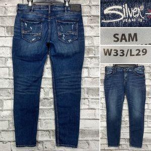Silver Sam 33 x 30 Boyfriend Relaxed Slim Jeans